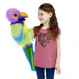 Plum-Headed Parakeet Hand Puppet - Large