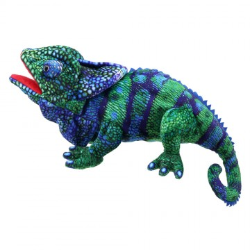 Large Creatures - Chameleon Hand Puppet (Blue-Green)