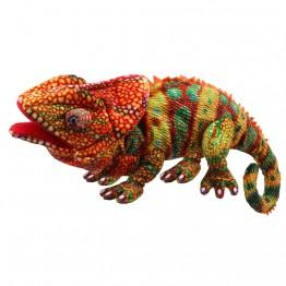 Large Creatures - Chameleon Hand Puppet (Orange)