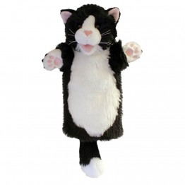 Black & White Cat Long Sleeved Puppet