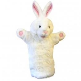 White Rabbit Long Sleeved Glove Puppet
