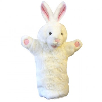 White Rabbit Long Sleeved Puppet