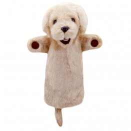 Yellow Labrador Long Sleeved Puppet
