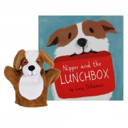 Nipper and the Lunchbox Book with My First Dog Hand Puppet