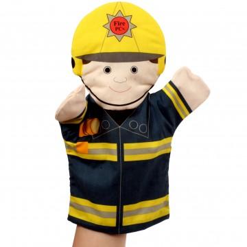 Flat Glove Puppet Fireman