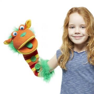 Buttons Sockette glove puppet