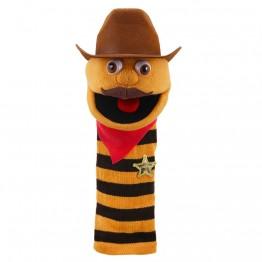 Cowboy Sockette glove puppet