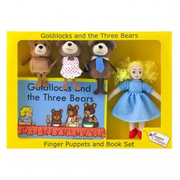 Goldilocks Finger Puppets & Book Set Boxed