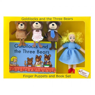Goldilocks Finger Puppets & Book Set Boxed