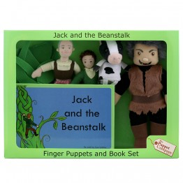 Jack & the Beanstalk Finger Puppets & Book Set Boxed