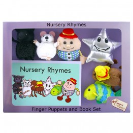 Nursery Rhymes Finger Puppets & Book Set Boxed