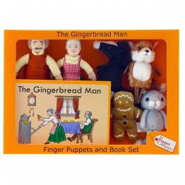 The Gingerbread Man Finger Puppets & Book set Boxed