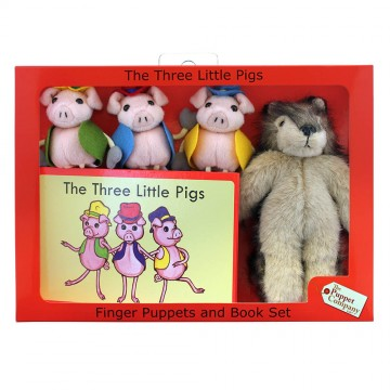 The Three Little Pigs Finger Puppets & Book Set Boxed