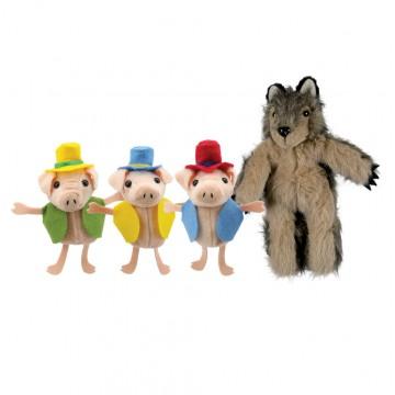 Three Pigs & Wolf Finger Puppet Set
