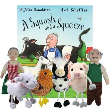 A Squash And a Squeeze book with puppets