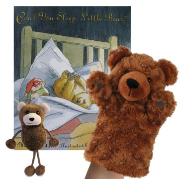 .Can't You Sleep Little Bear Book with Puppets