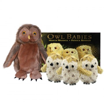 Owl Babies Book with Puppets