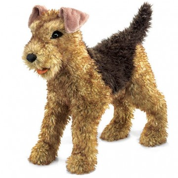 Airdale Terrier Dog Hand Puppet