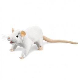 White Rat Hand Puppet