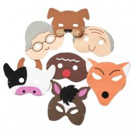 Gingerbread Man Story Play Masks