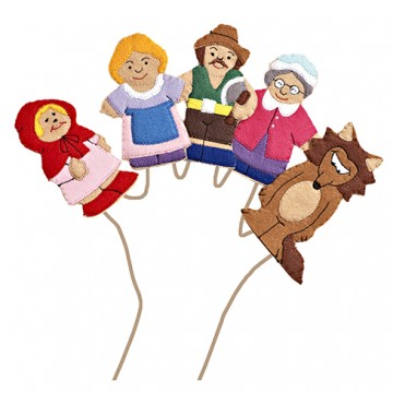 Red Riding Hood Finger Puppet set