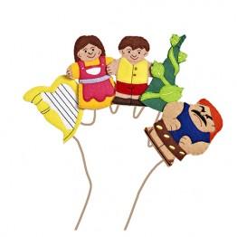 Jack and The Beanstalk Finger Puppet Set