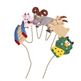 Billy Goats Gruff Finger Puppet Set