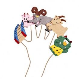 Billy Goats Gruff Finger Puppet Set