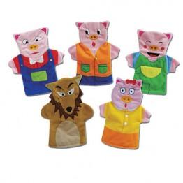 Three Pigs Hand Puppet Set