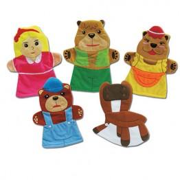 Goldilocks & Three Bears Hand Puppet Set