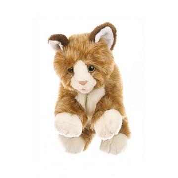 Brown & White Cat Glove Puppet
