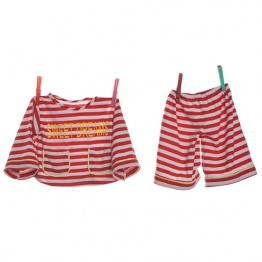 .Red & White Pyjamas ( 65cm )