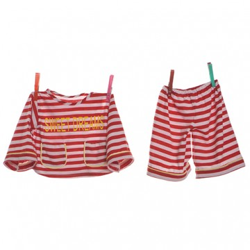 .Red & White Pyjamas ( 65cm )