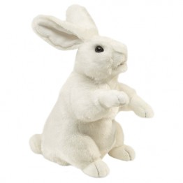 Standing White Rabbit Hand Puppet