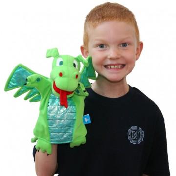 Green Dragon Hand Puppet