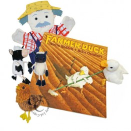 Farmer Duck Book with Puppets