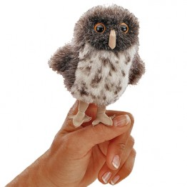 Spotted Owl Mini Finger Puppet