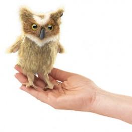 Mini Great Horned Owl Finger Puppet