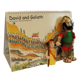 David & Goliath Story Book with Puppets