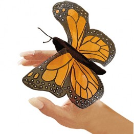 Monarch Butterfly Finger Puppet