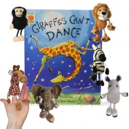 Giraffes Can't Dance Book with Finger Puppets