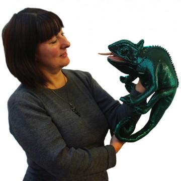 Chameleon Hand Puppet