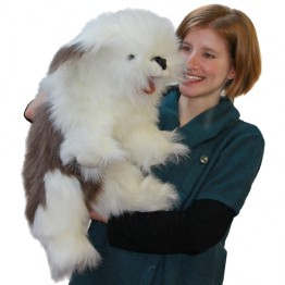 Old English Sheepdog Hand Puppet