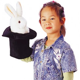 Rabbit in a Top Hat Glove Puppet