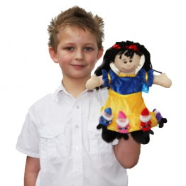Snow White Glove Puppet withSeven Finger Puppet Dwarfs Set