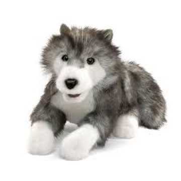 Timber Wolf Hand Puppet