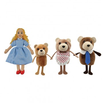 Goldilocks and the Three Bears Story Finger Puppet Set