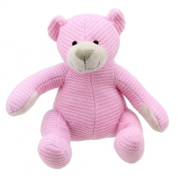 Bear - Pink Medium - Wilberry Knitted