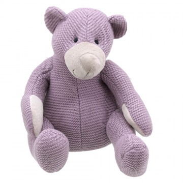Bear - Purple Large - Wilberry Knitted