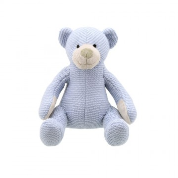 Bear - Blue Small - Wilberry Knitted